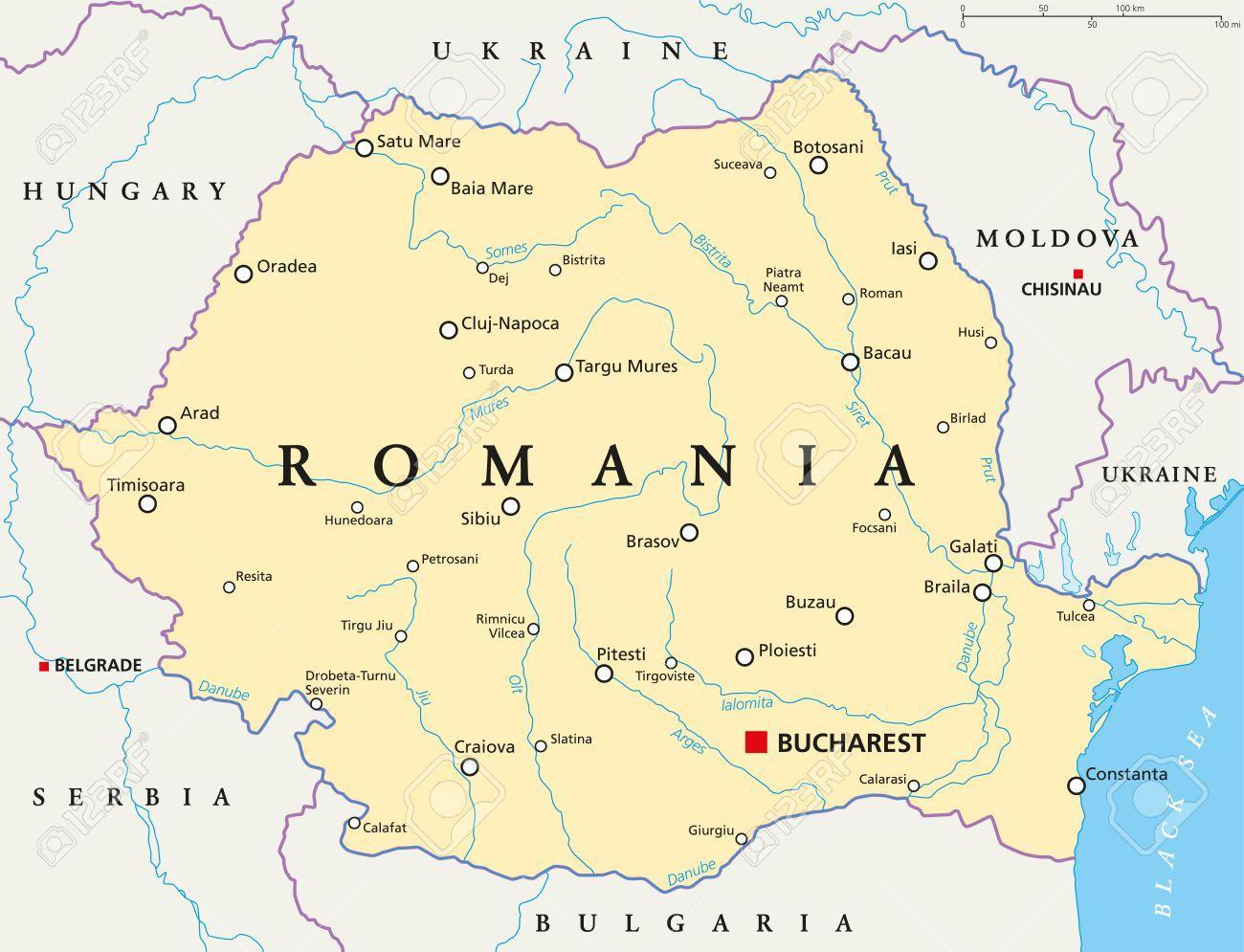 Bukarest Rumaenien Kort Kort Over Bukarest Rumaenien Rumaenien