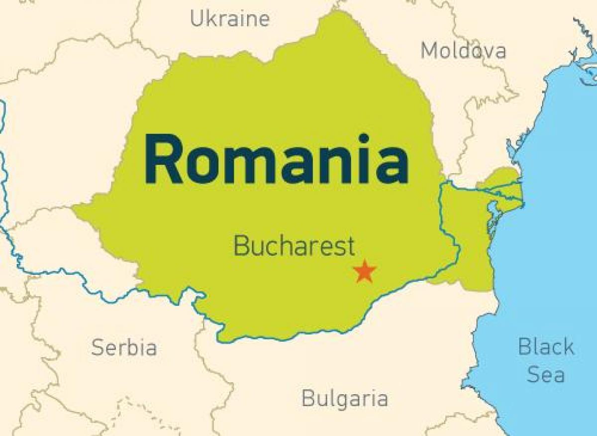 Bukarest Pa Kort Bukarest Pa Et Kort Rumaenien